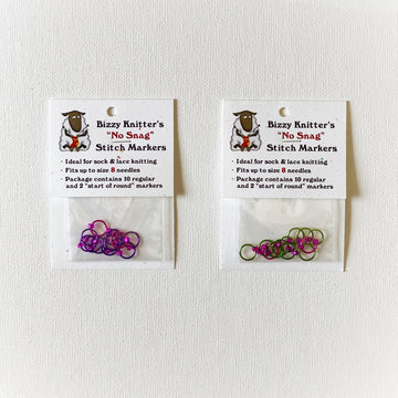 Bizzy Knitter's No Snag Stitch Markers - Small