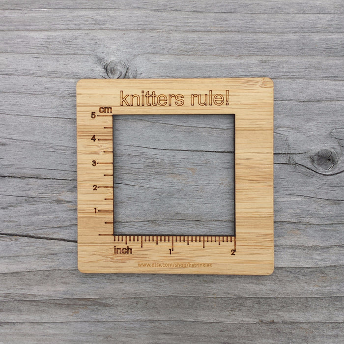 "Knitters Rule 2"" Gauge Swatch Measurement Tool"