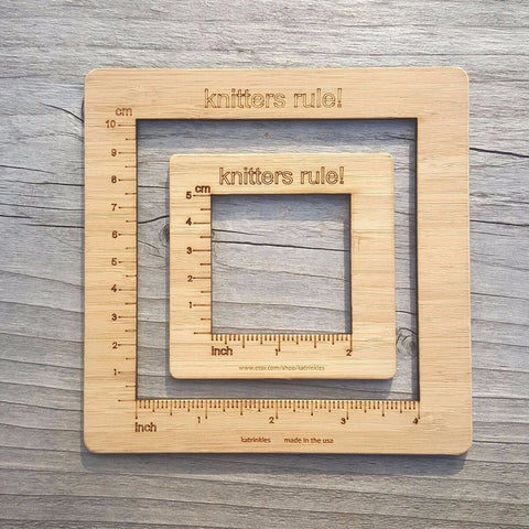 "Katrinkles Knitters Rule 4"" Gauge Swatch Measurement Tool"