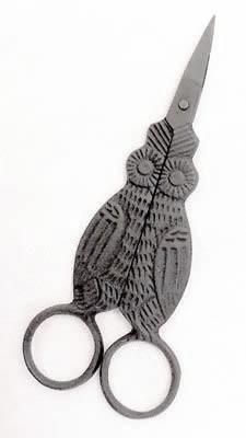 Owl Scissors, Primitive Black