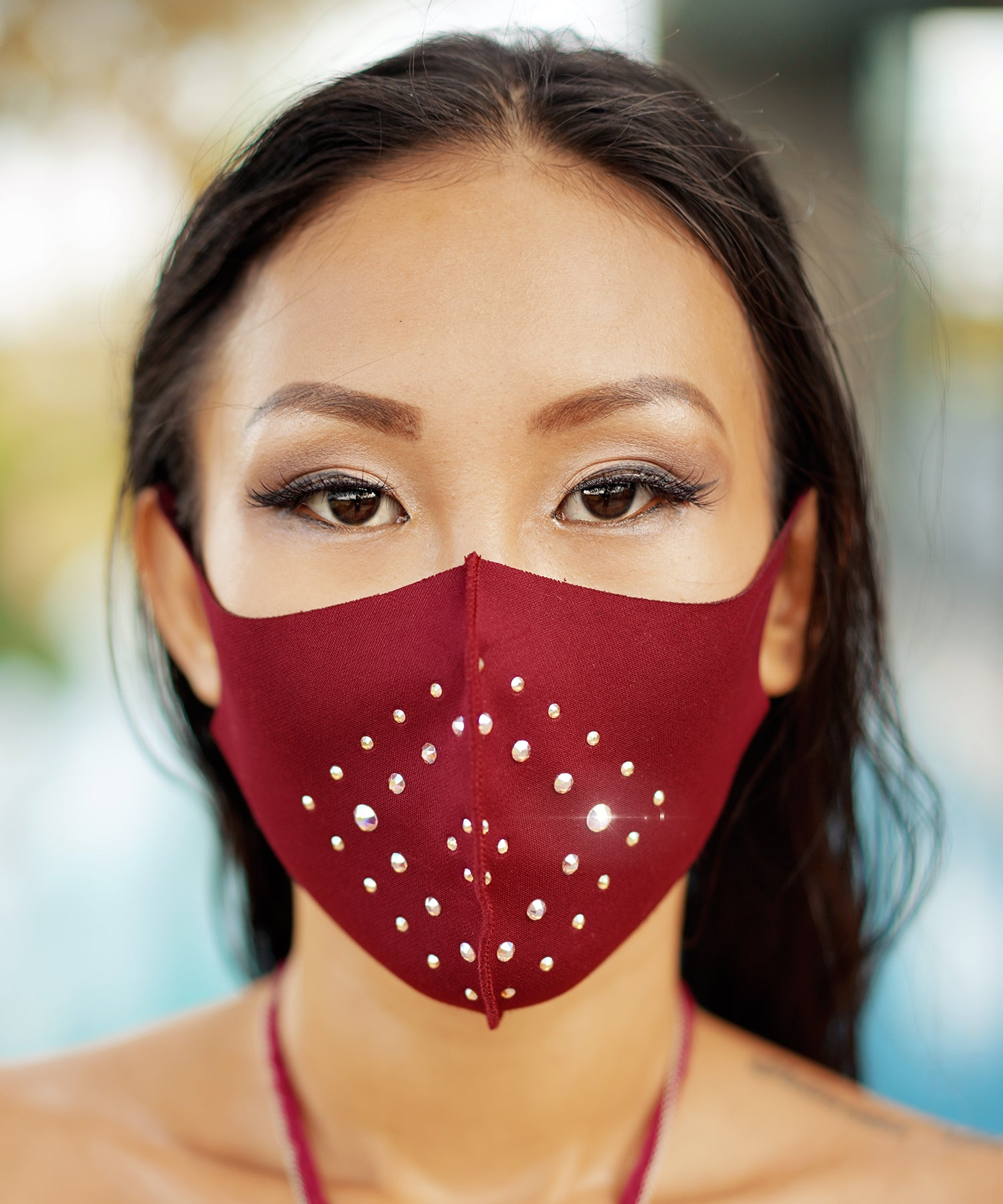 Swarovski Solitaire Mask (Black)