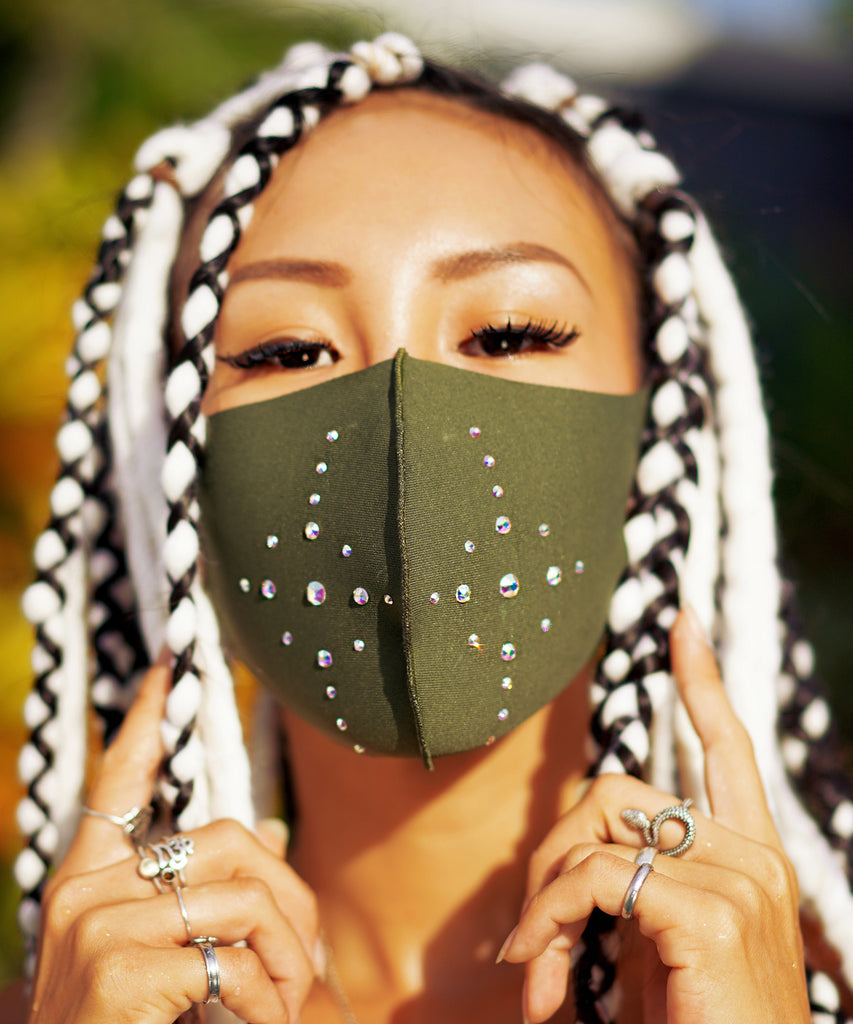 Swarovski Starbright Mask (Army Green)