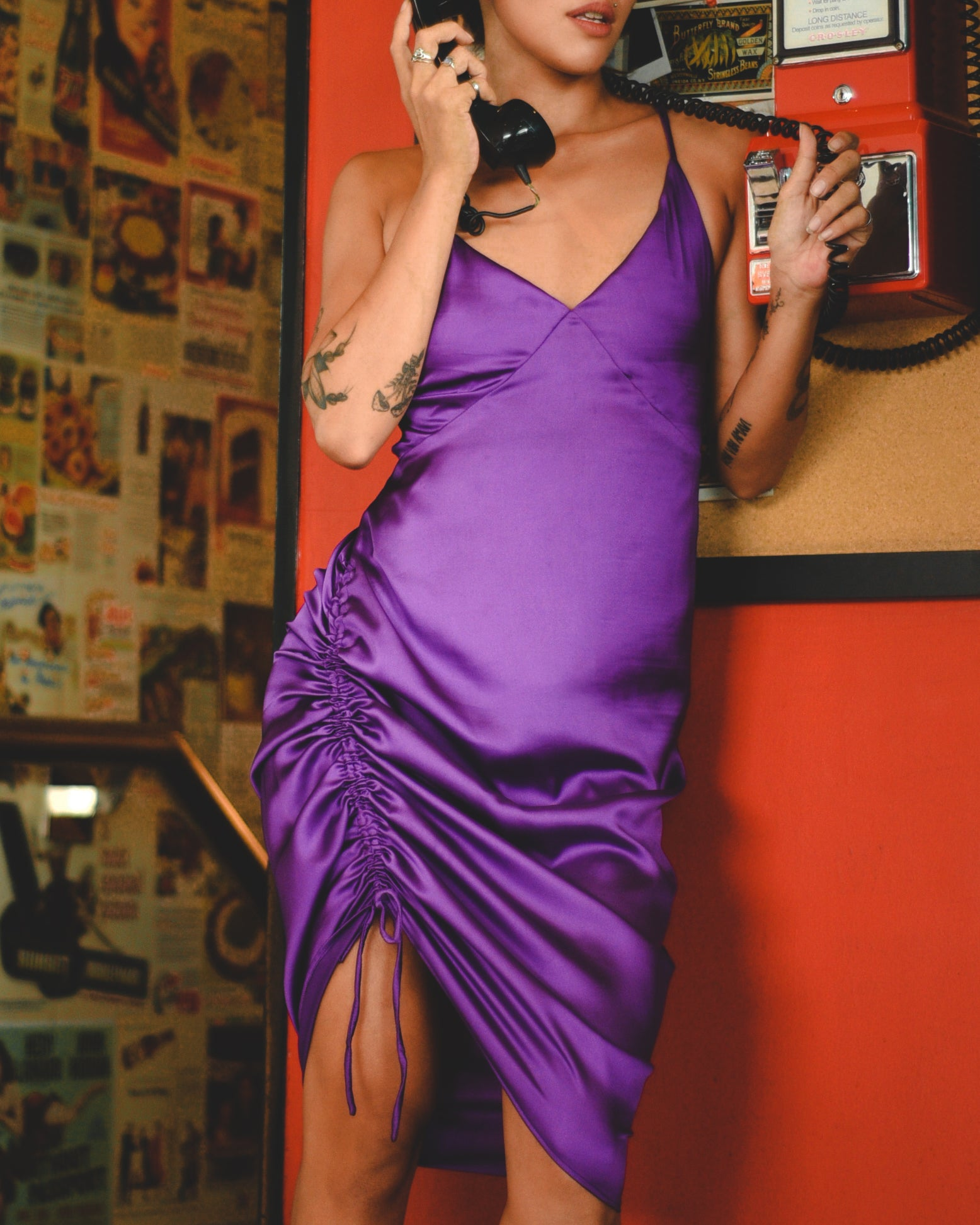 Grape Jitterbug Satin Dress