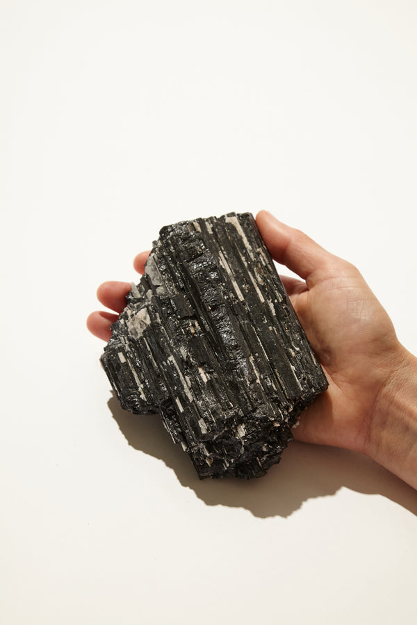 Rough Black Tourmaline Slab