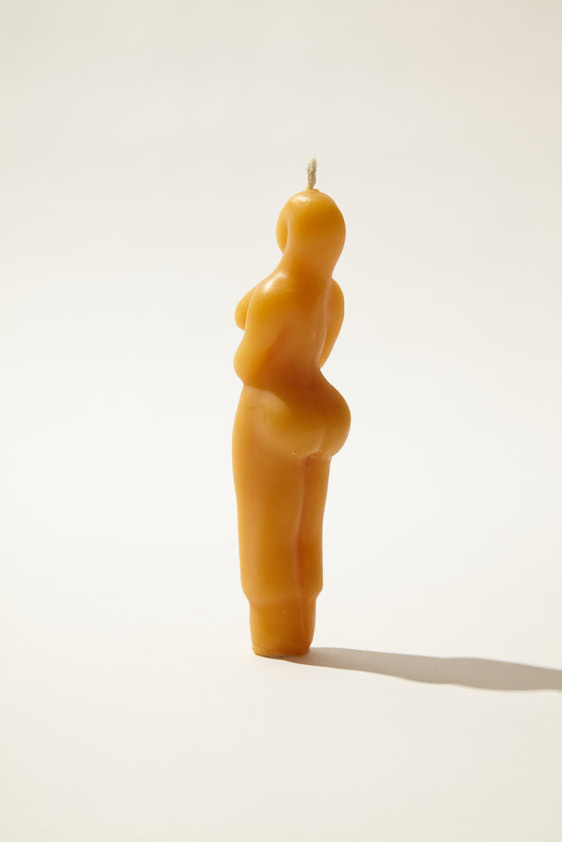 Standing Woman Beeswax Candle