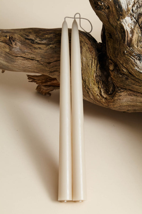 "The Floral Society 12"" Parchment Taper Candle"