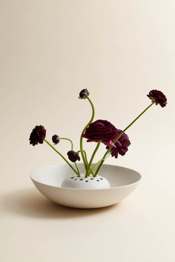 The Floral Society Ceramic Frog Flower Bowl