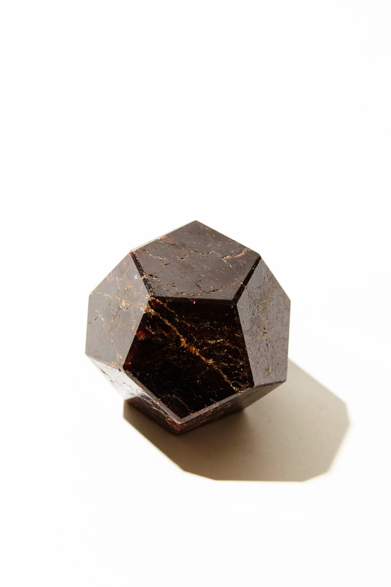 Medium Almandine Garnet Hexagon