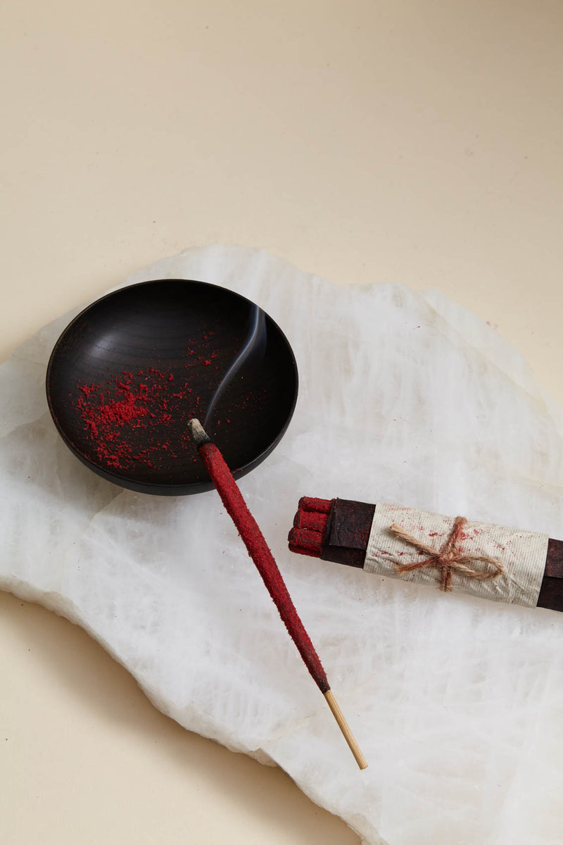 TrīDevī  Red Lotus Hand Rolled Incense