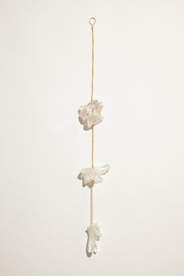 Courtney Bensik Clear Quartz Suspension Hanging