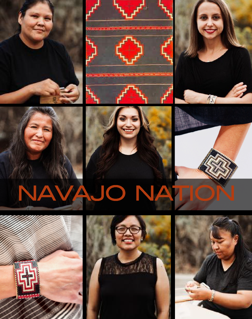 Navajo Crafted Beaded Cuffs