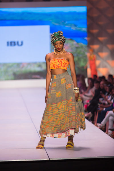 Ewe Skirt with Mola Top and Headwrap