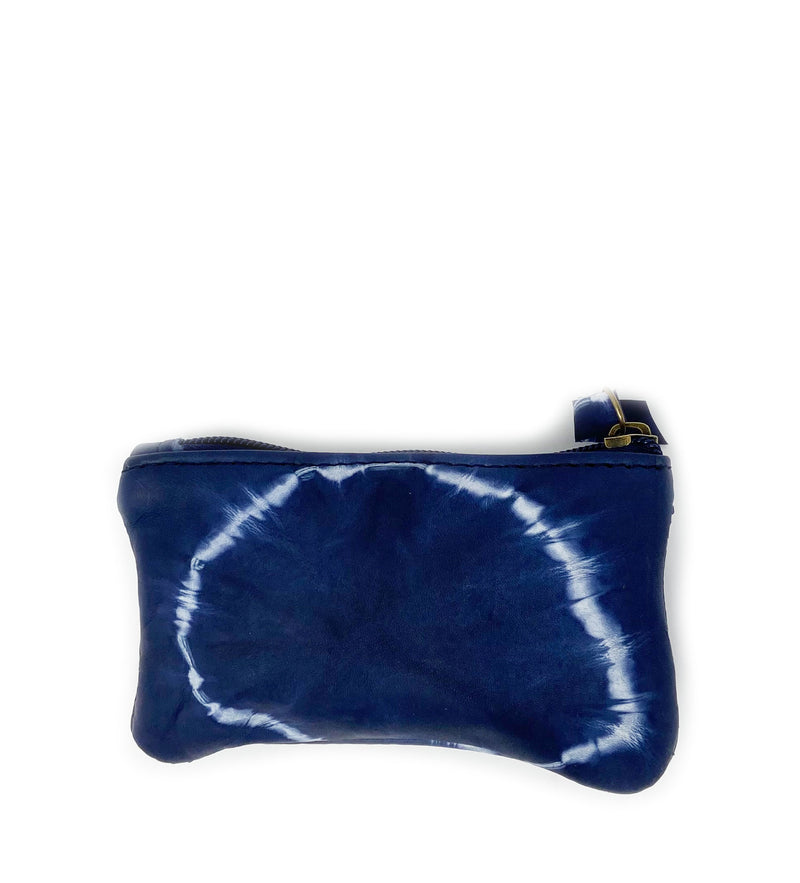 Addis Zip Pouch: Navy Circle