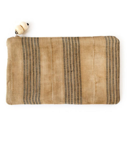 African Strip Weaving Clutch