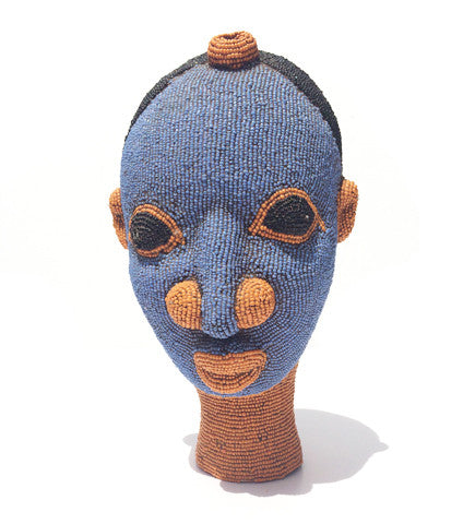 African Ceramic Beaded Head