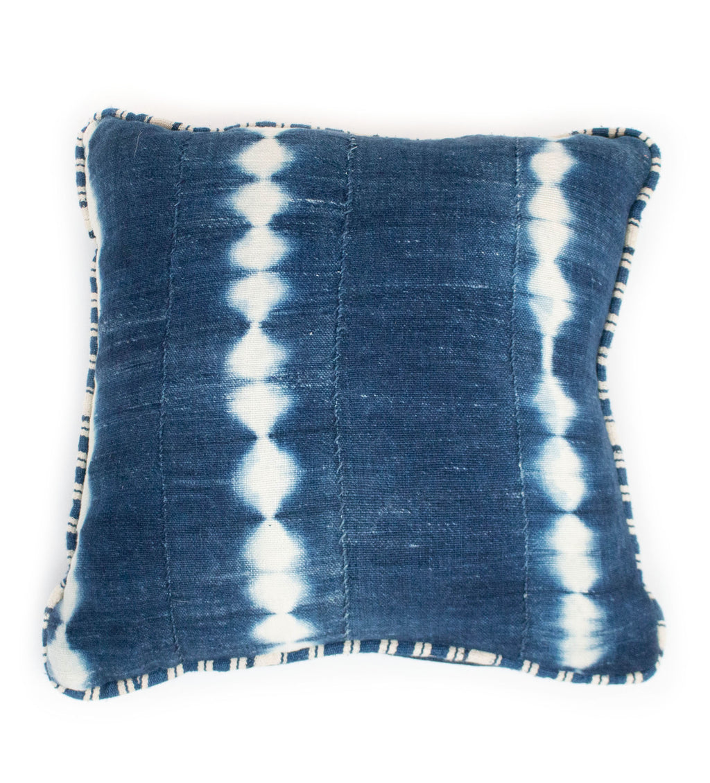 African Indigo Mud Cloth Pillow