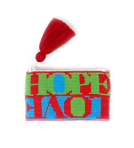 Hope + Love Canvas Tote: Blue, Green, Red