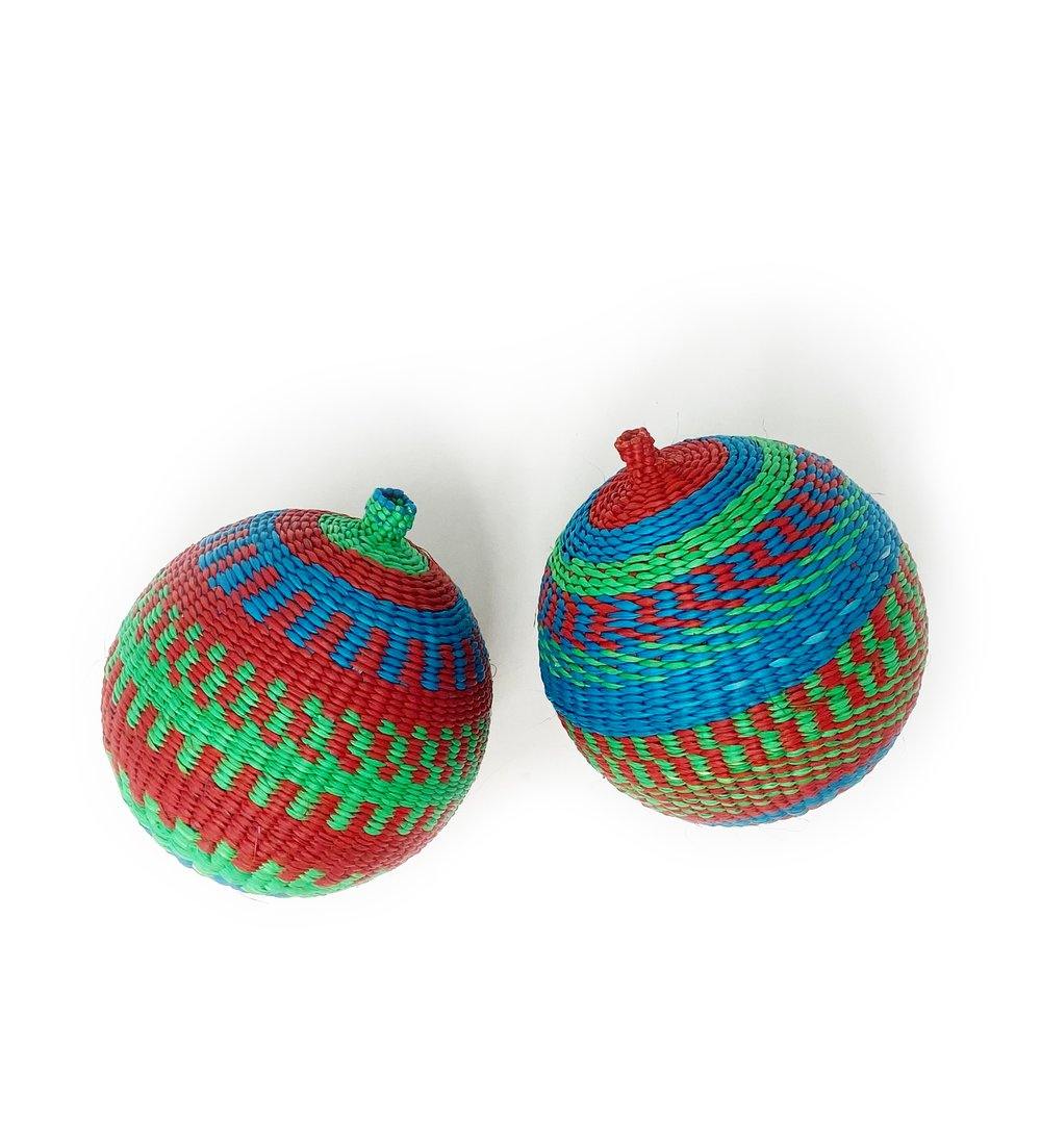 Two Woven Orb Colorful Ali4Ibu Ornaments