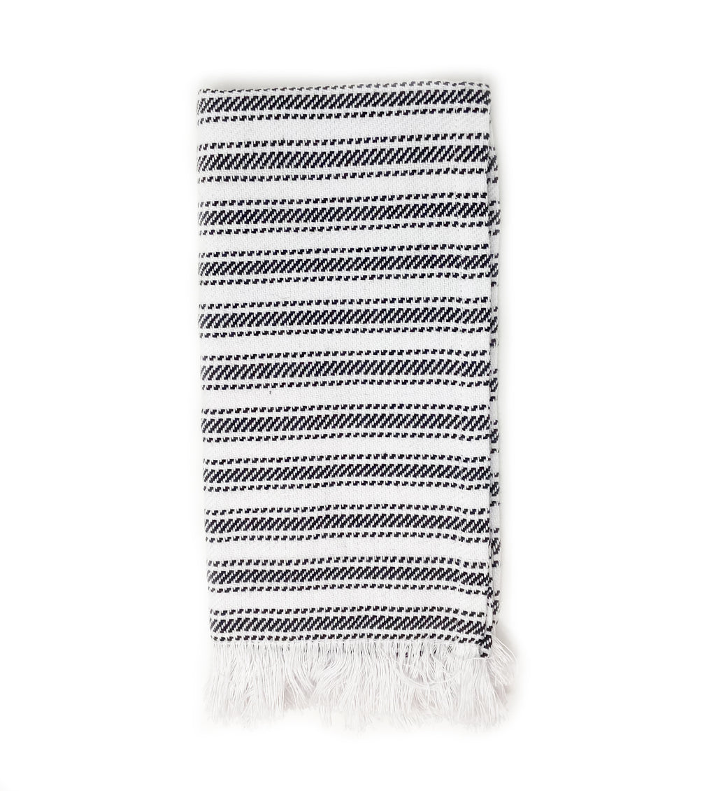 Handwoven Striped Napkin: Black and White