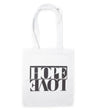 Hope + Love Canvas Tote: Black and White