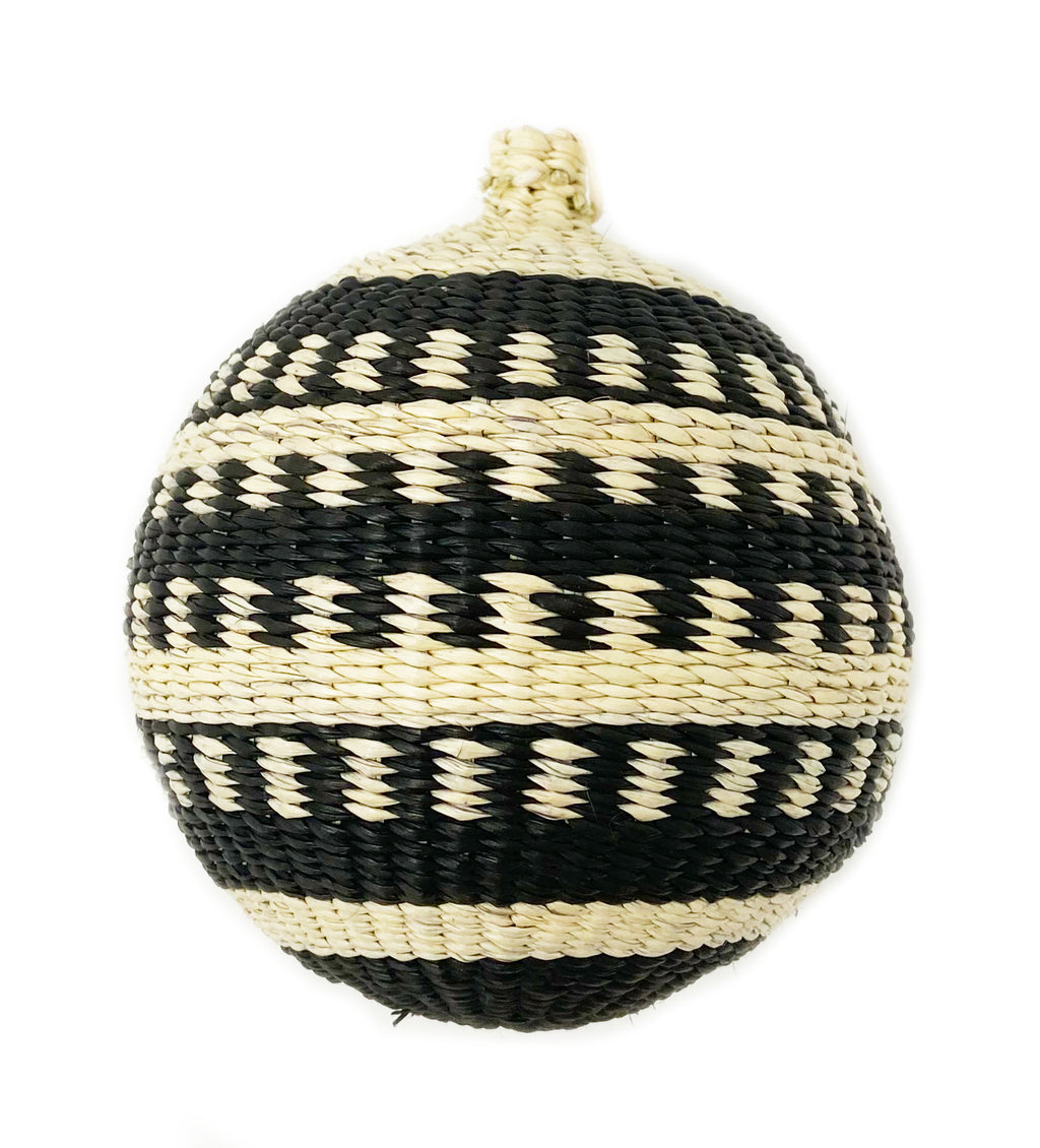 Woven Ornament: Black and White Individual