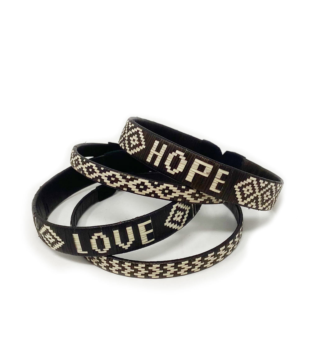 Hope + Love Woven Bracelet Set