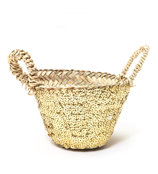 Gold Sequin Basket