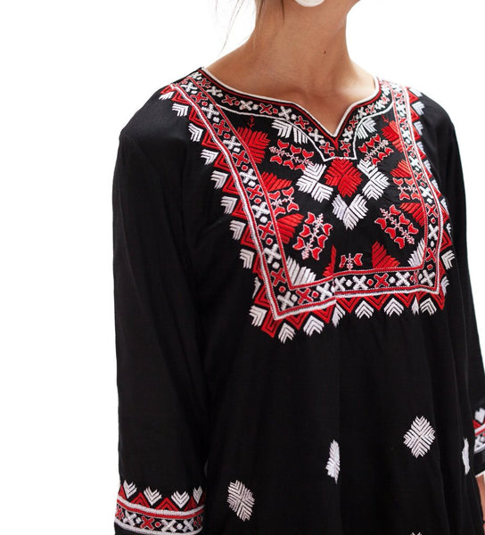 PREORDER: Ali's Favorite Tunic: Black and Red