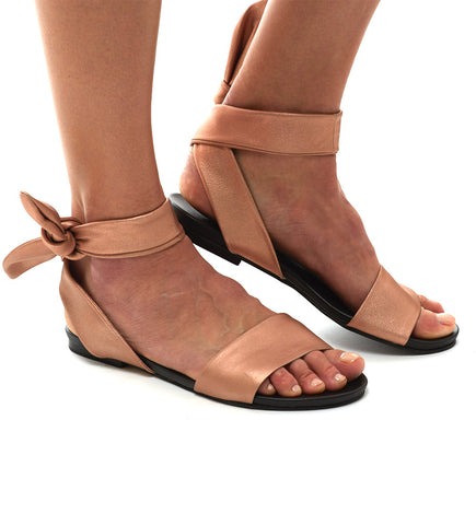 Ankle Wrap Sandal: Amber
