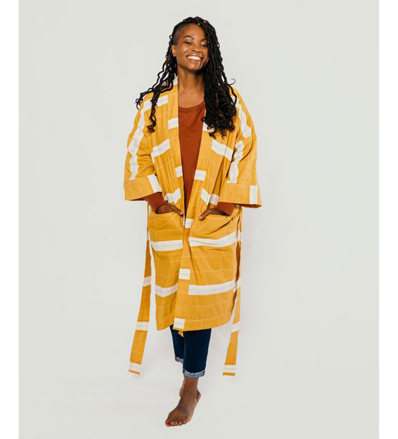 Stripe Robe: Mustard