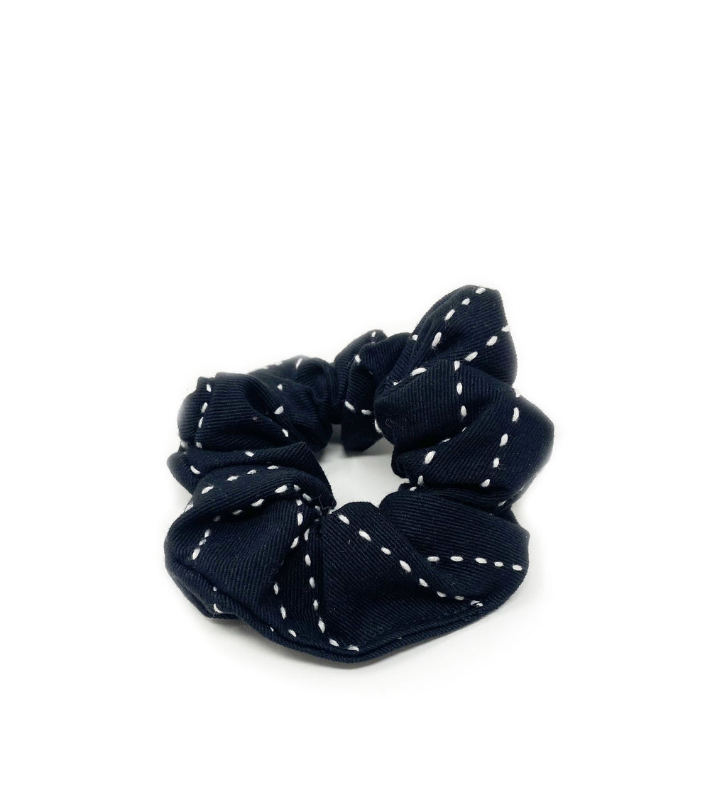 Kantha Scrunchie: Charcoal