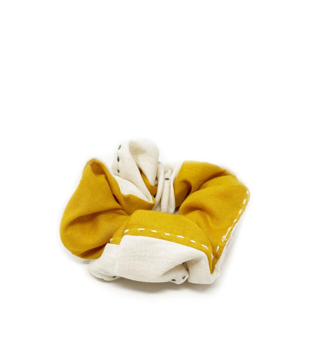Stripe Scrunchie: Mustard