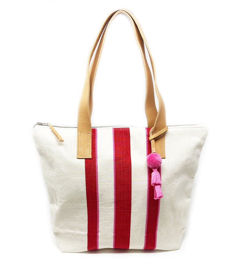 Angela Tote: Sunset Racer Stripe