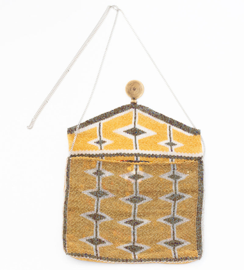Antassia Beaded Bag: Gold