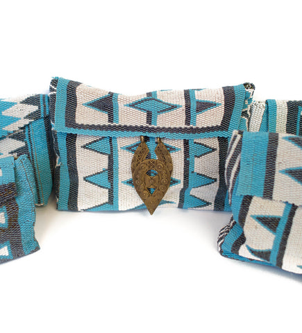 Antonia Beaded Bag: Turquoise
