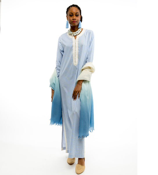 The Aya Caftan: Queen's Blue