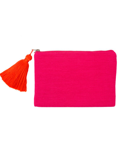 Single Tassel Clutch: Pink