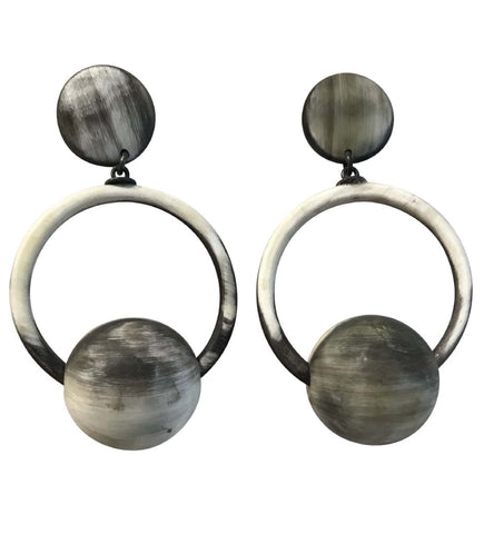 Single Orb Earrings: Light