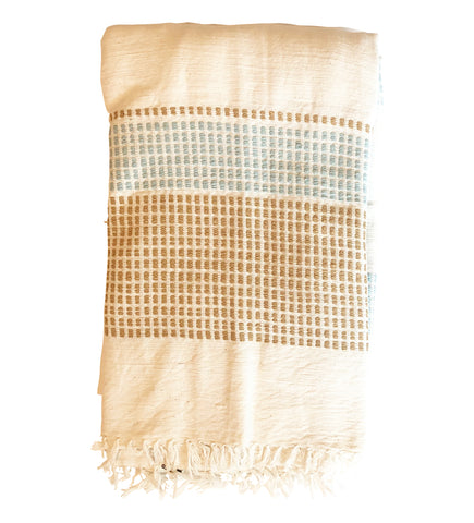Riviera Ribs Bath Towel: Blush