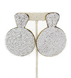Beaded Disk Earrings: White