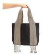 Huanca Woven Tote: Black and White