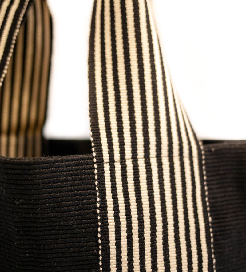 Belt Lines Tote: Black and White