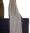 Belt Lines Tote: Navy and White