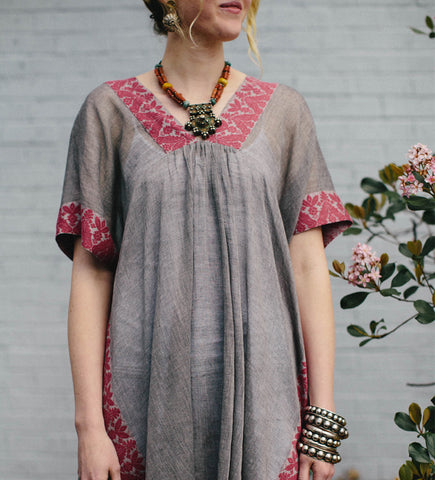 Bengal Border Tunic: Berry