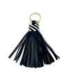 Brown Leather Tassel Keychain: Multi Lines