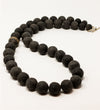 Coffee Long Ball Necklace with Mali Bead