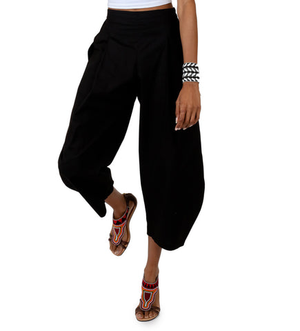 Nagada Balloon Pant: Black