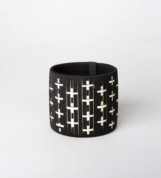 Ibu Signature Power Cuff: Black Cross
