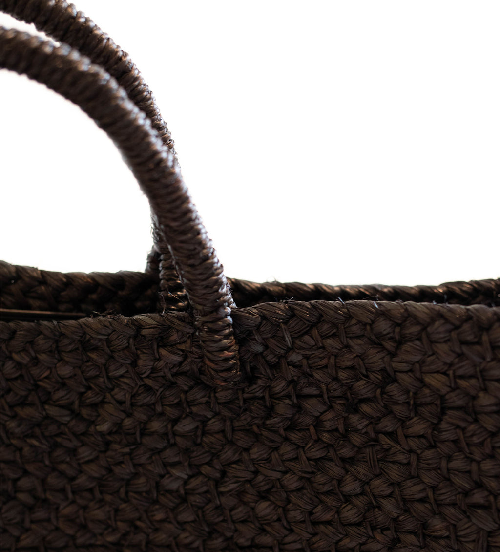 Black Raffia Bag