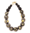 Black Long Necklace with Mali Bead